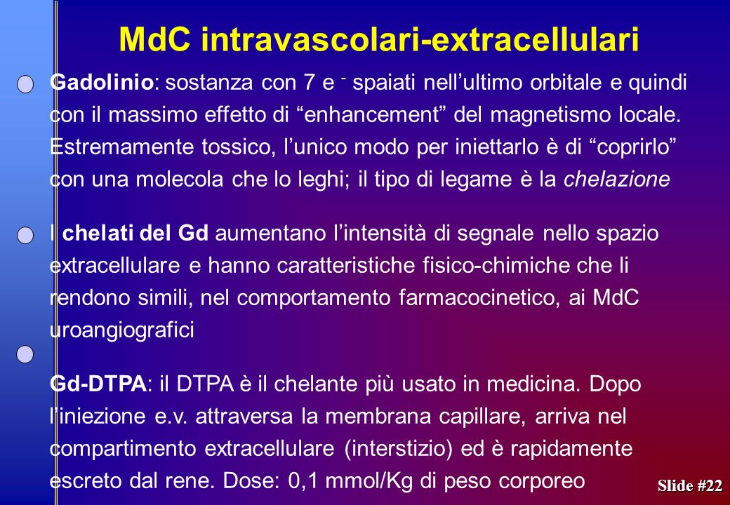 MdC intravascolari-extracellulari