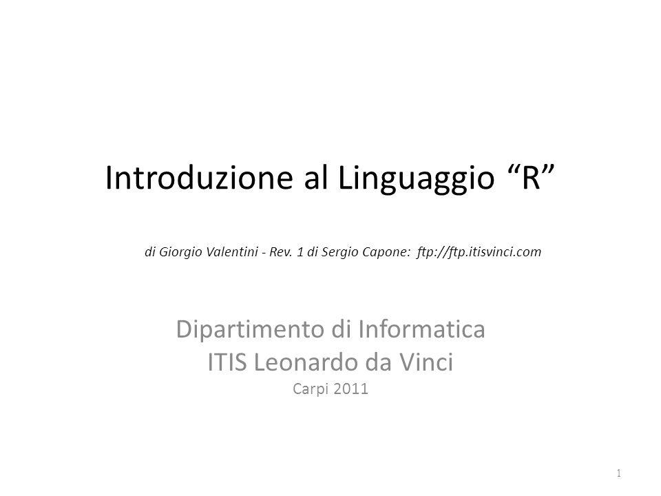 Dipartimento di Informatica ITIS Leonardo da Vinci Carpi 2011