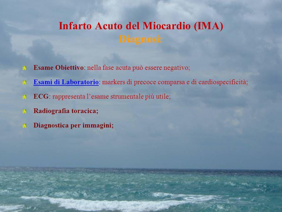 Infarto Acuto del Miocardio (IMA) Diagnosi: