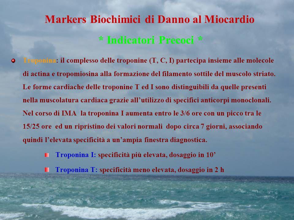 Markers Biochimici di Danno al Miocardio * Indicatori Precoci *