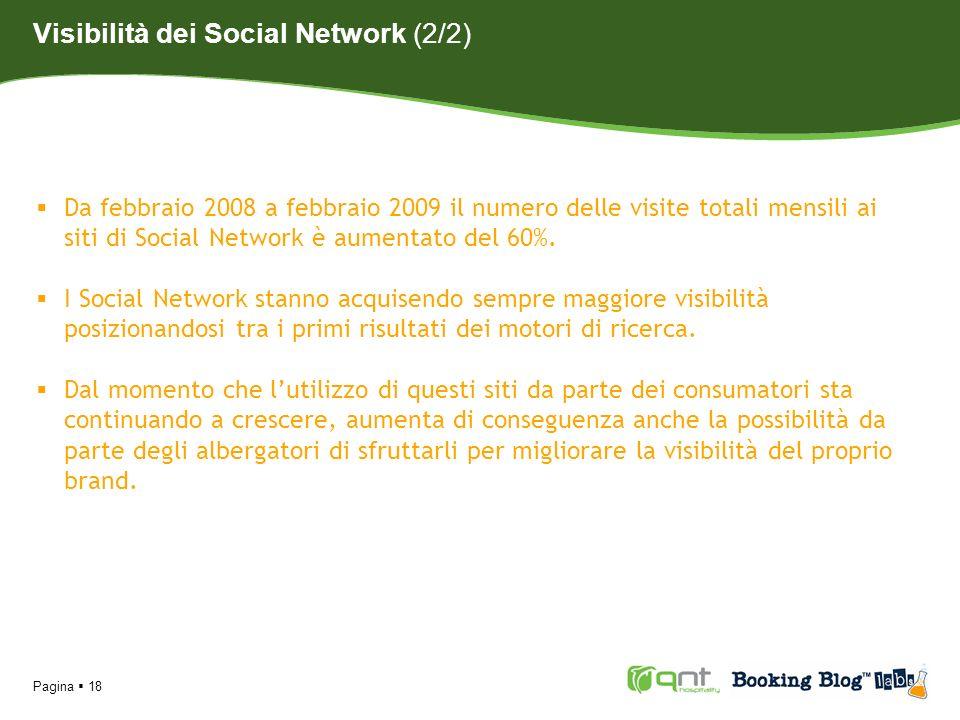 Visibilità dei Social Network (2/2)