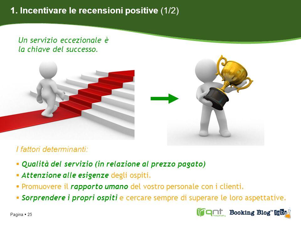 1. Incentivare le recensioni positive (1/2)