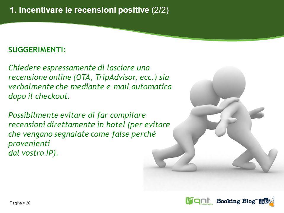 1. Incentivare le recensioni positive (2/2)