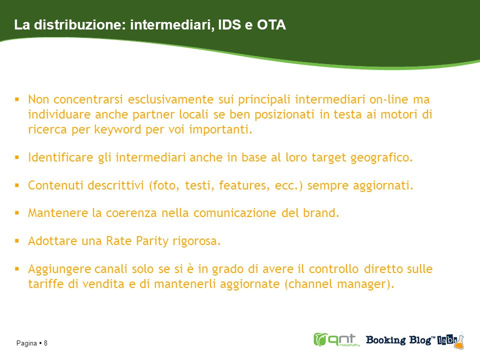 La distribuzione: intermediari, IDS e OTA