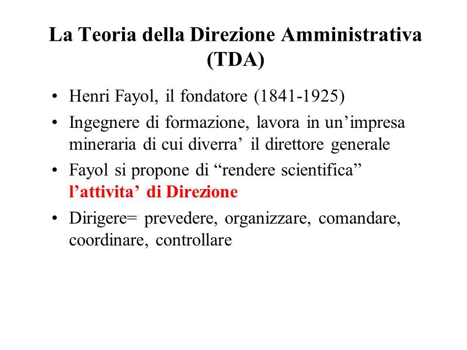 La Teoria della Direzione Amministrativa (TDA)