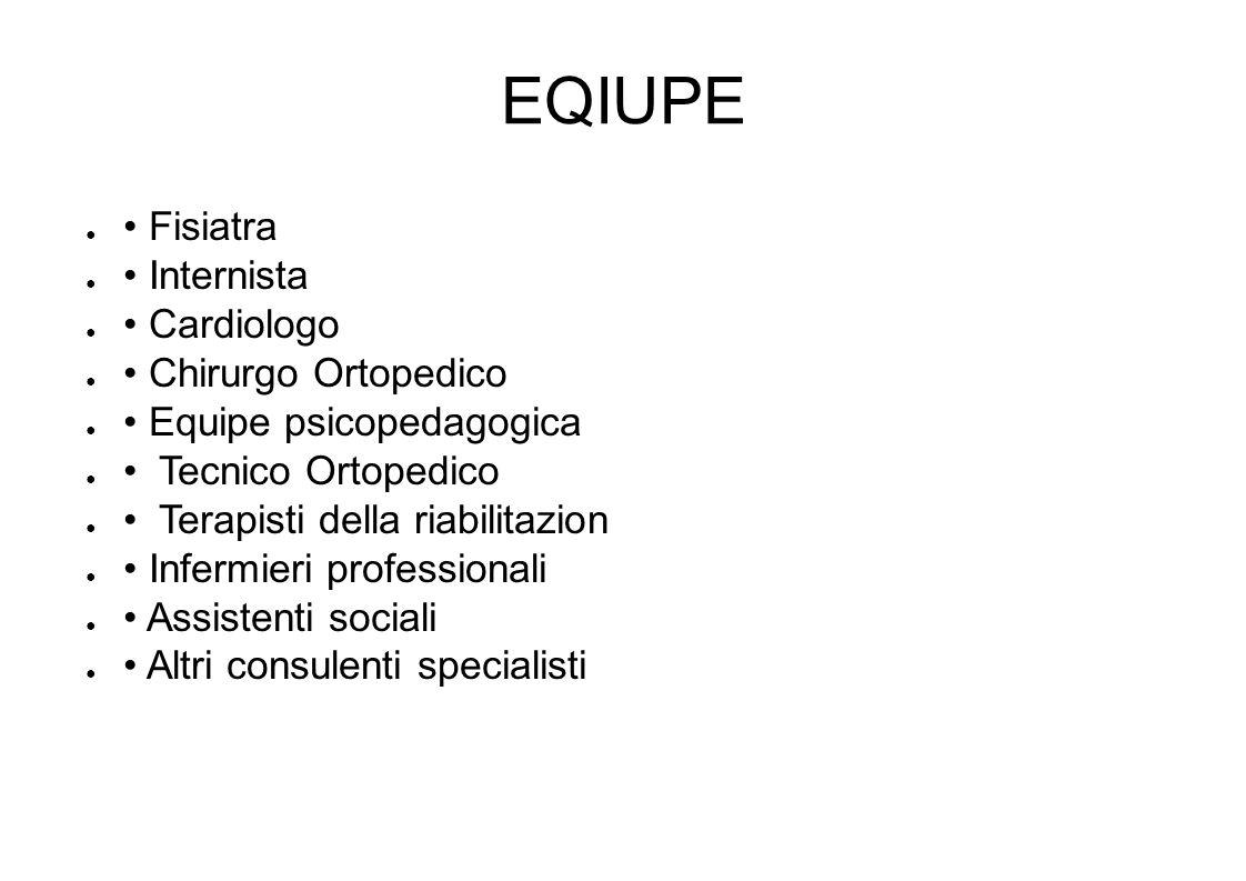 EQIUPE • Fisiatra • Internista • Cardiologo • Chirurgo Ortopedico