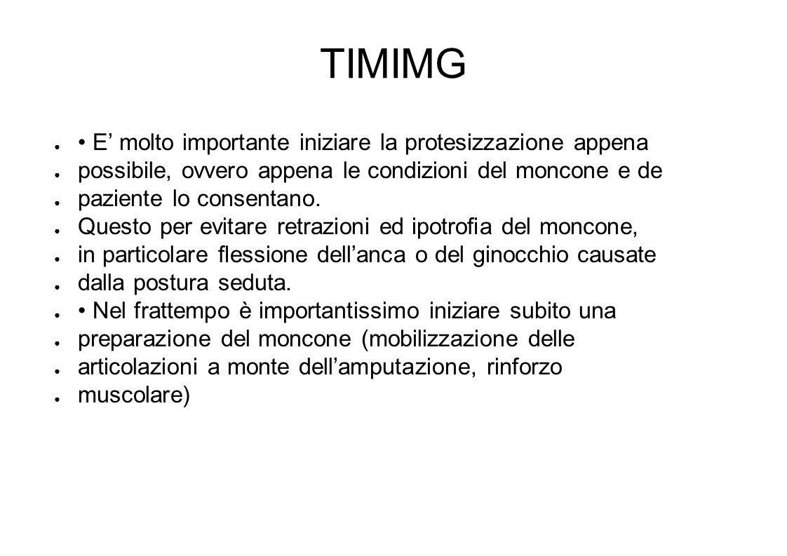 TIMIMG • E' molto importante iniziare la protesizzazione appena