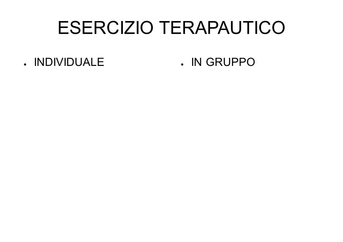 ESERCIZIO TERAPAUTICO