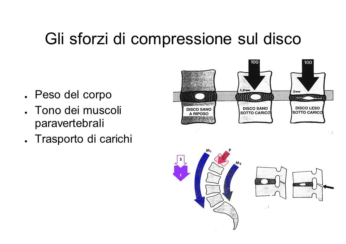 Gli sforzi di compressione sul disco
