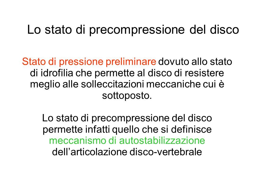 Lo stato di precompressione del disco