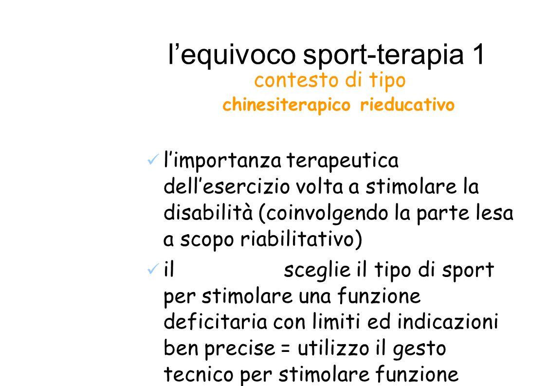 l'equivoco sport-terapia 1
