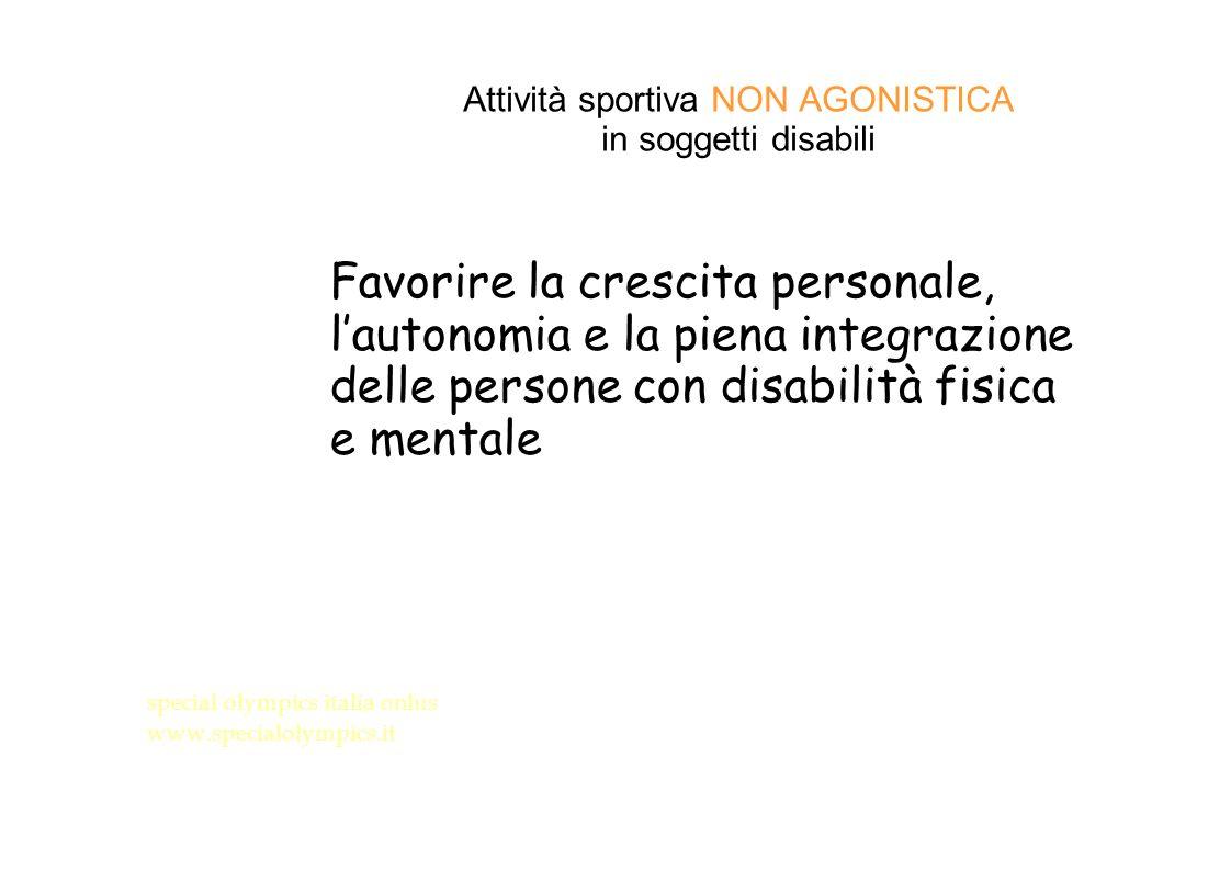 Attività sportiva NON AGONISTICA in soggetti disabili