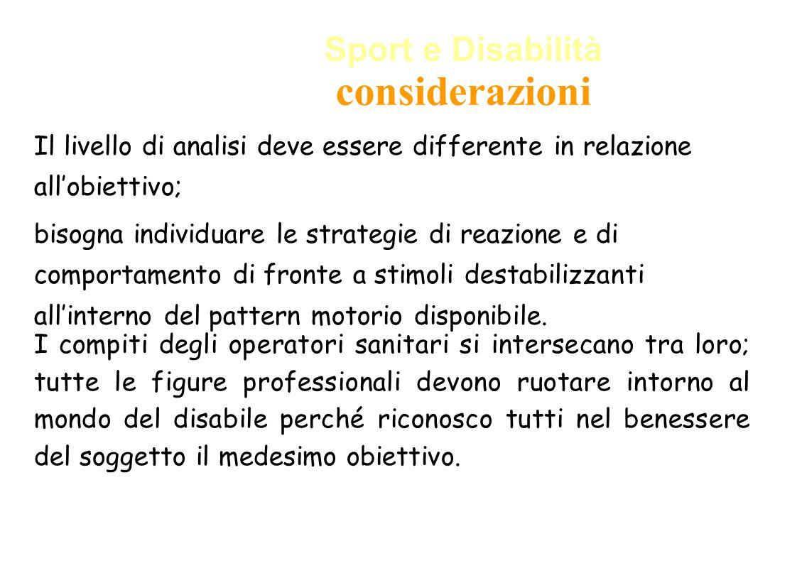 Sport e Disabilità considerazioni