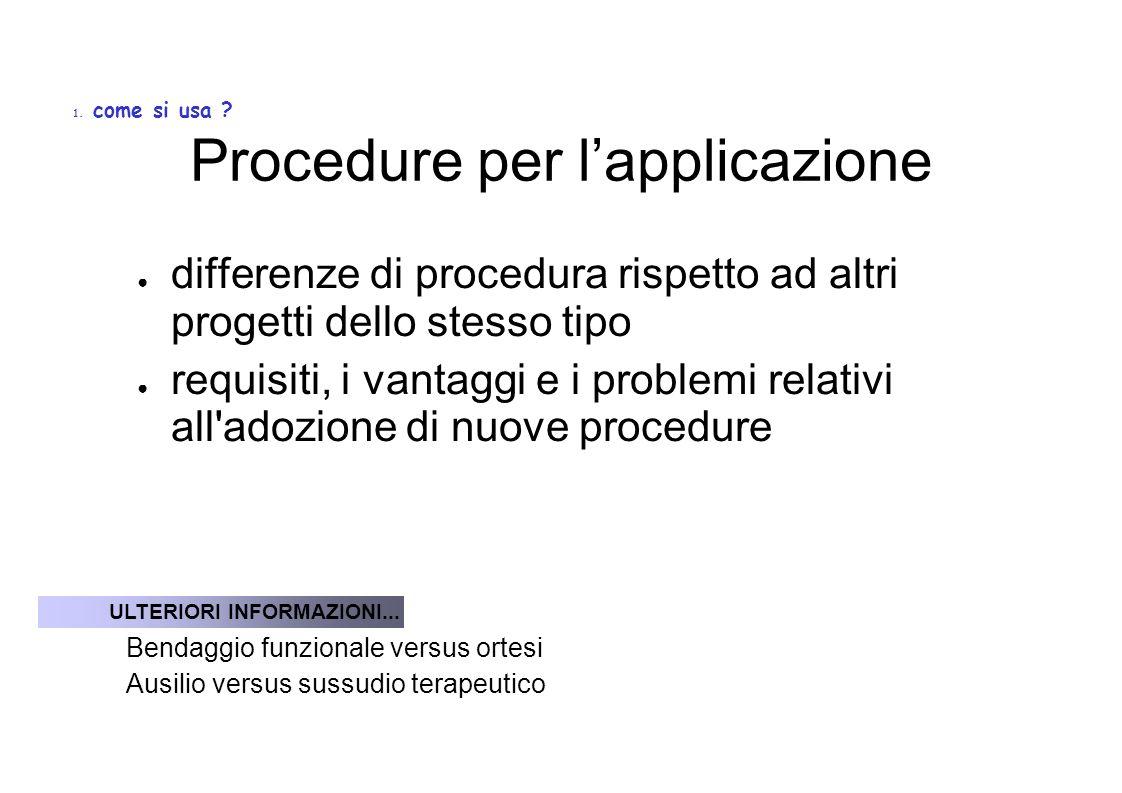 Procedure per l'applicazione