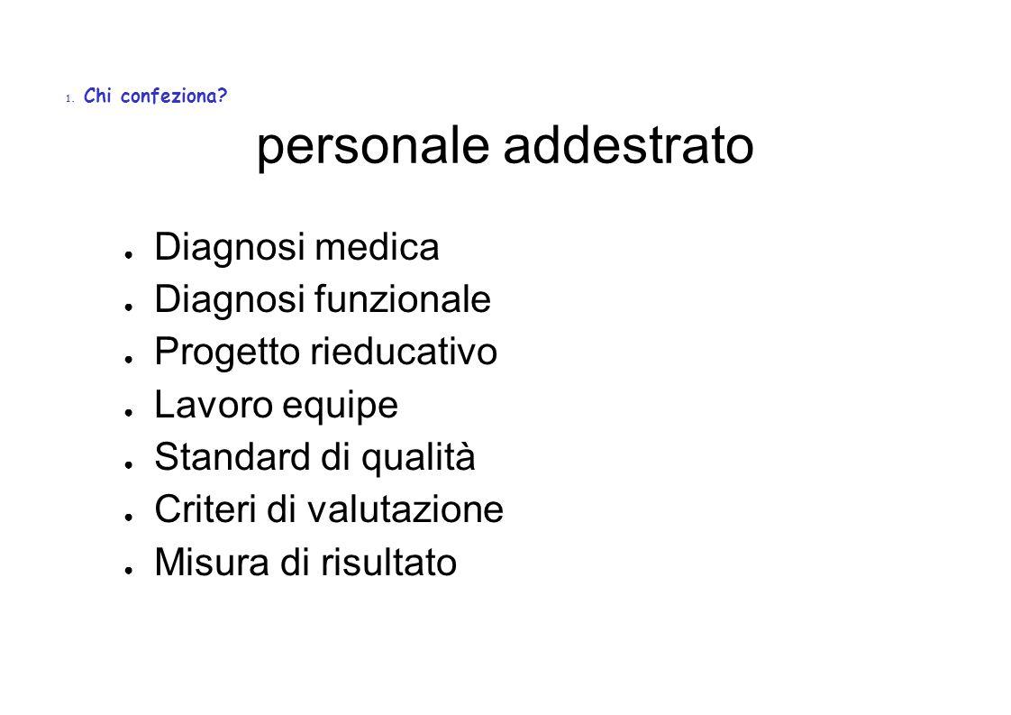 personale addestrato Diagnosi medica Diagnosi funzionale