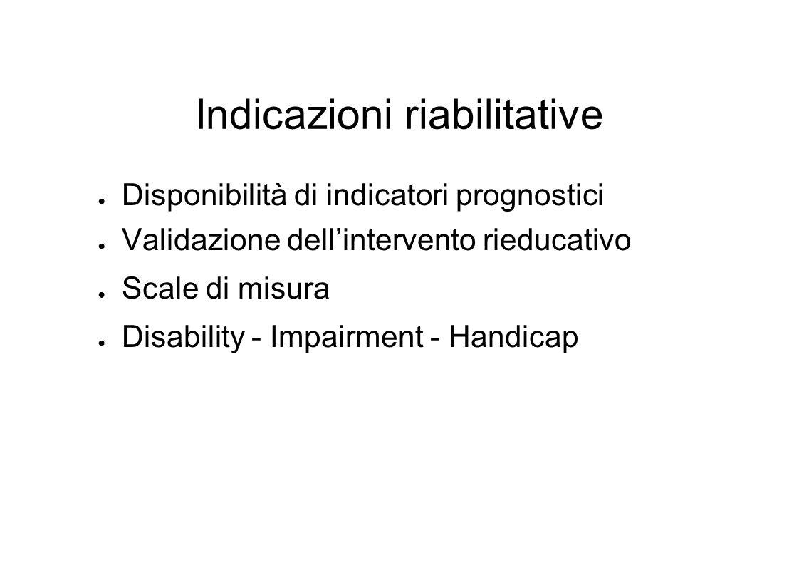Indicazioni riabilitative