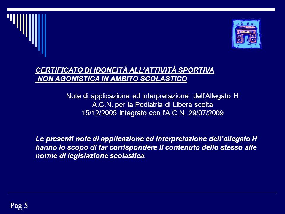 Pag 5 CERTIFICATO DI IDONEITÀ ALL'ATTIVITÀ SPORTIVA