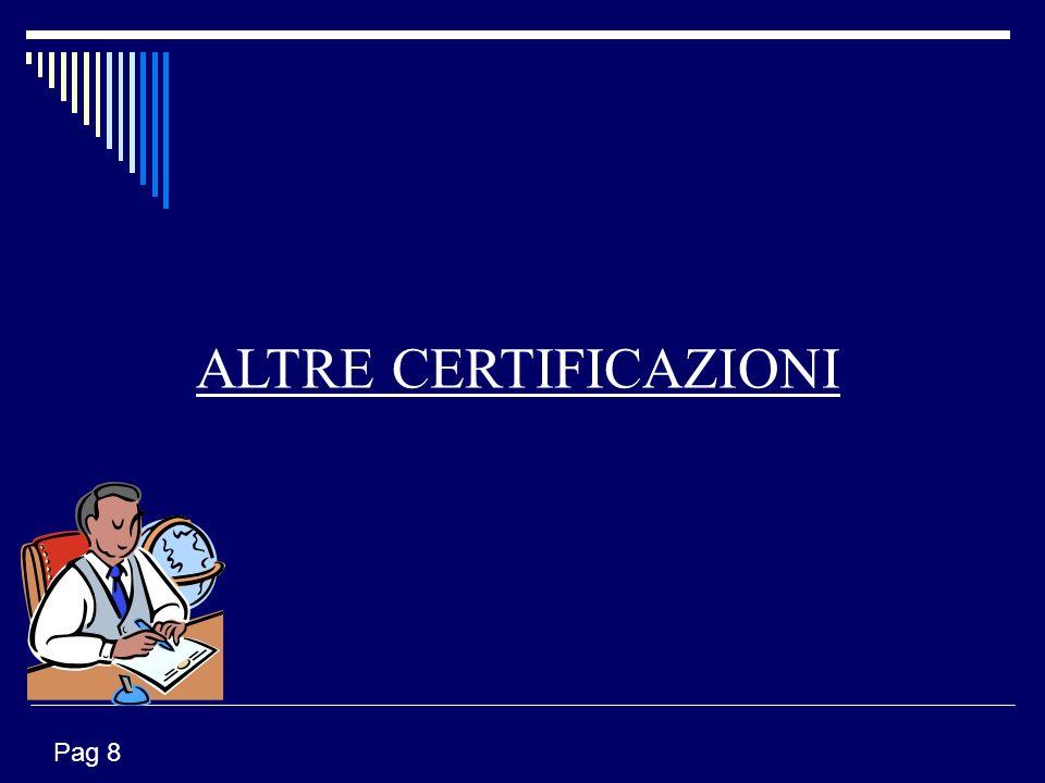 ALTRE CERTIFICAZIONI Pag 8