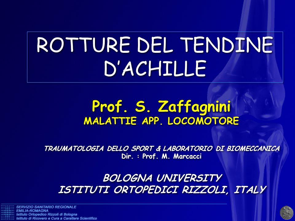 ROTTURE DEL TENDINE D'ACHILLE