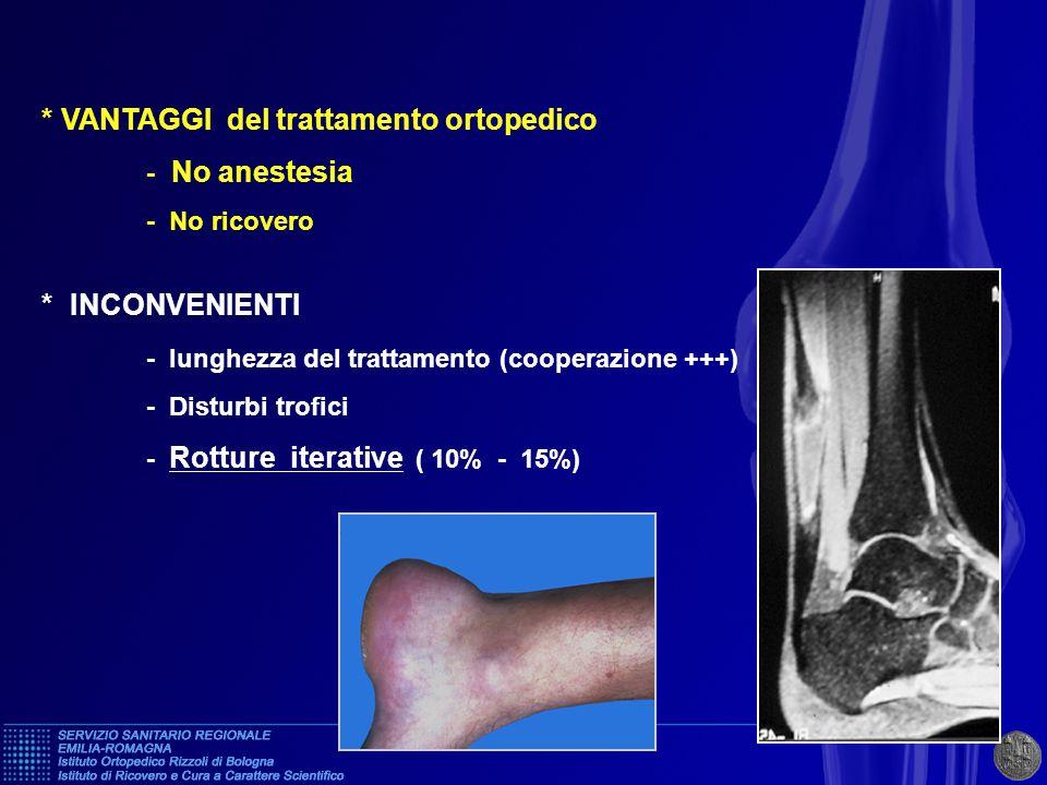 * VANTAGGI del trattamento ortopedico - No anestesia