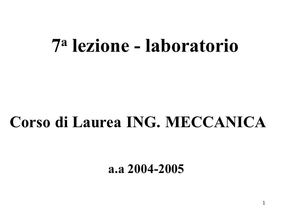 7a lezione - laboratorio