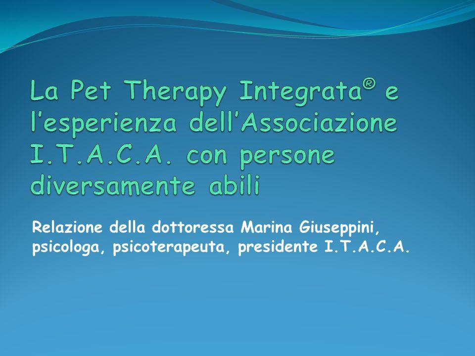 La Pet Therapy Integrata® e l'esperienza dell'Associazione I. T. A. C