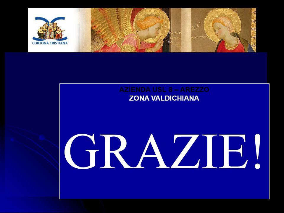 AZIENDA USL 8 – AREZZO ZONA VALDICHIANA GRAZIE!