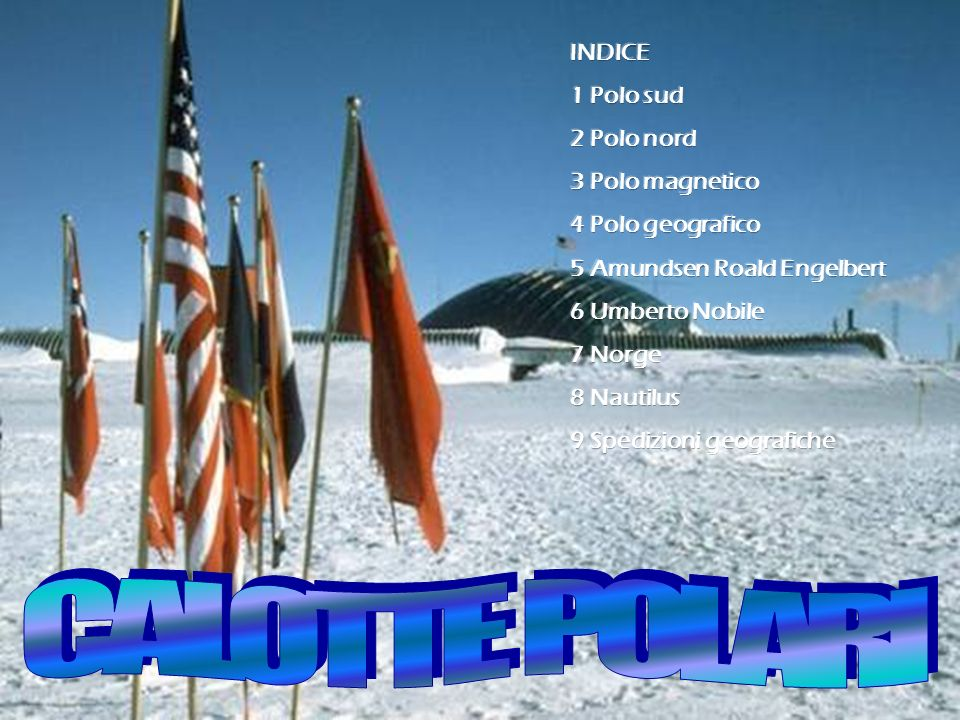 CALOTTE POLARI INDICE 1 Polo sud 2 Polo nord 3 Polo magnetico