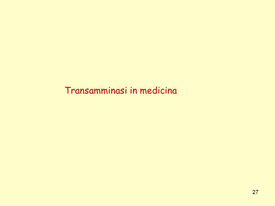Transamminasi in medicina
