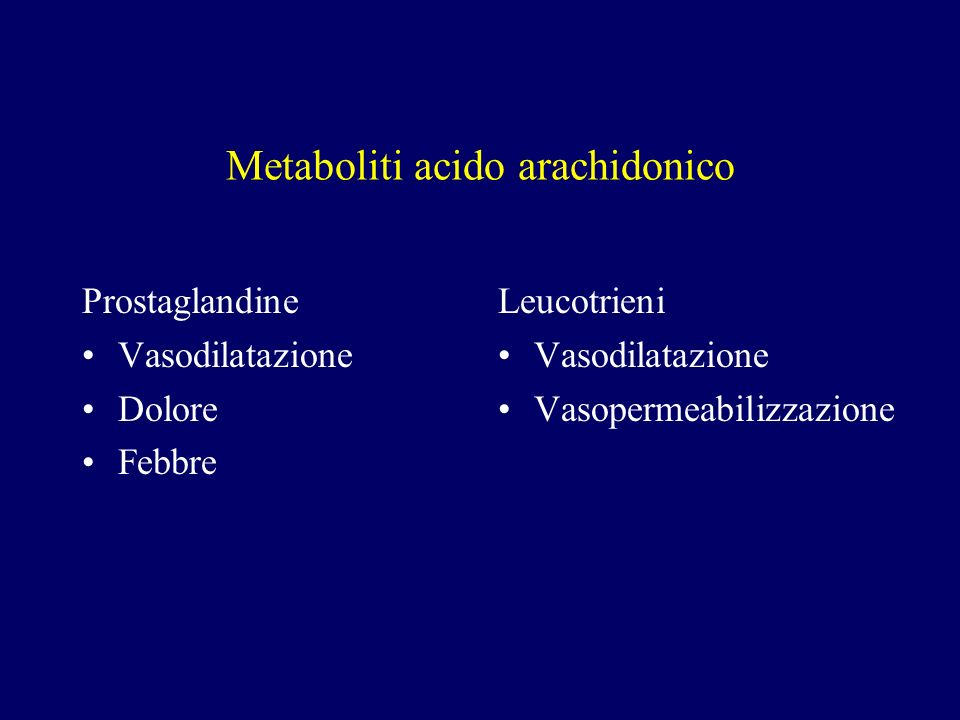 Metaboliti acido arachidonico