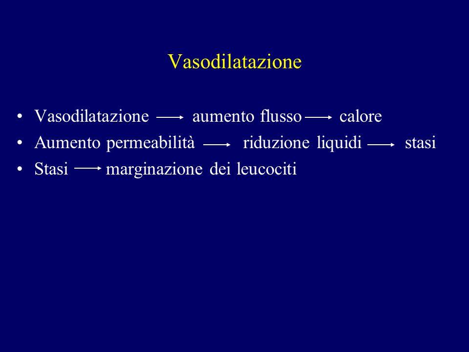 Vasodilatazione Vasodilatazione aumento flusso calore