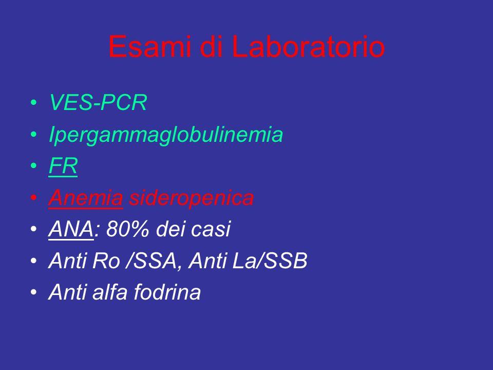 Esami di Laboratorio VES-PCR Ipergammaglobulinemia FR