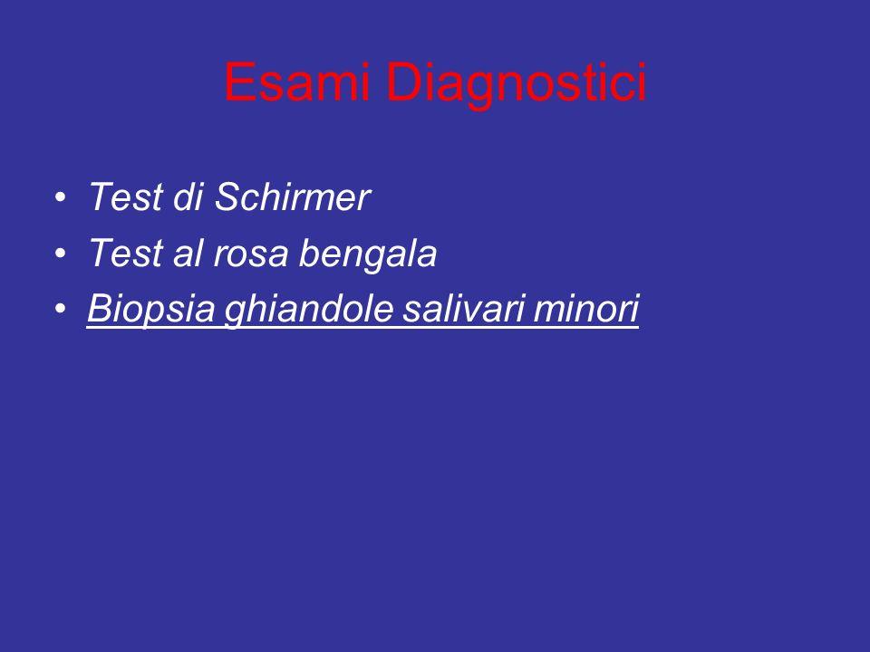 Esami Diagnostici Test di Schirmer Test al rosa bengala