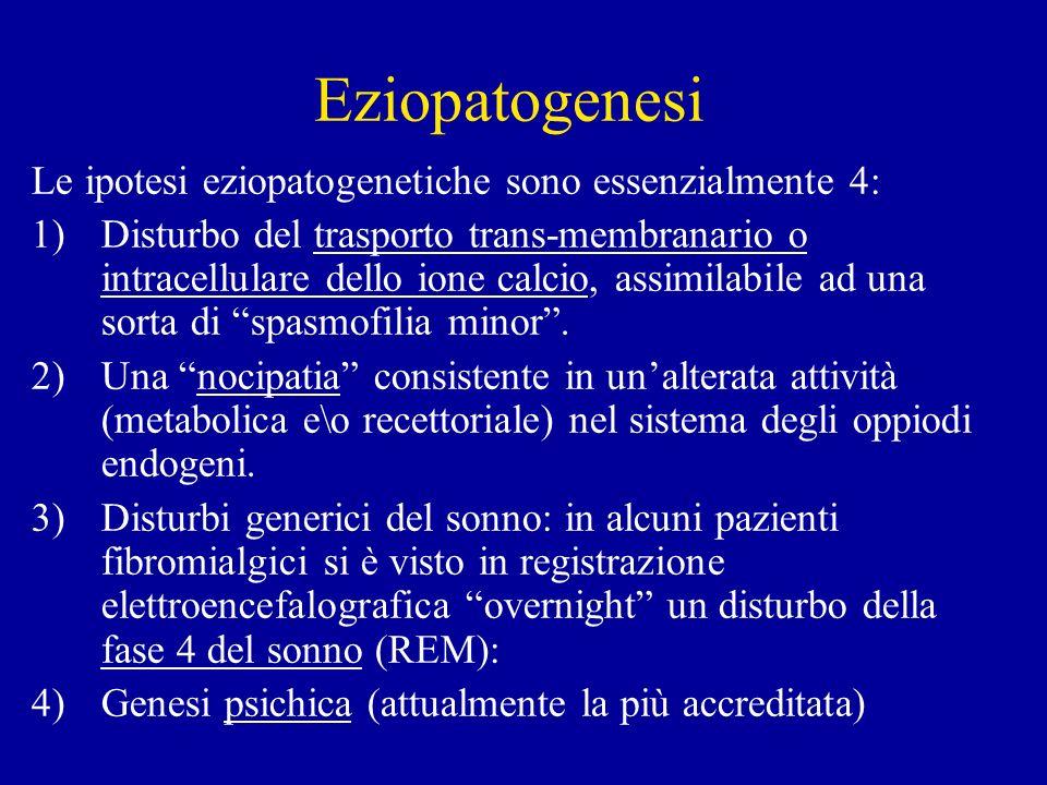 Eziopatogenesi Le ipotesi eziopatogenetiche sono essenzialmente 4: