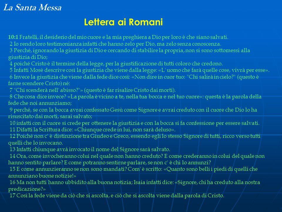 La Santa Messa Lettera ai Romani