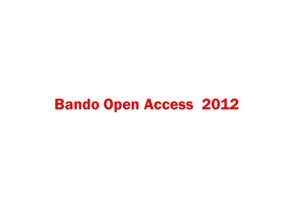 Bando Open Access 2012