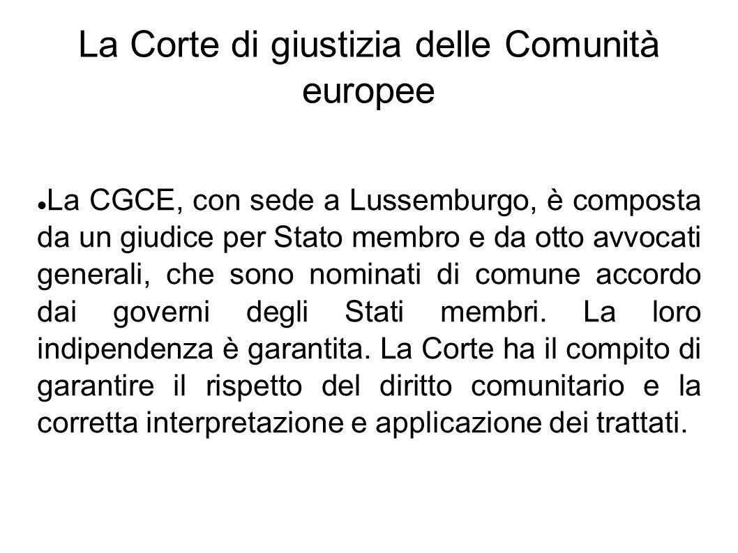 La Corte di giustizia delle Comunità europee