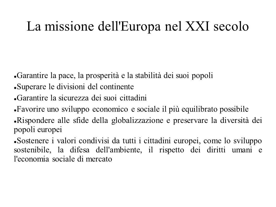 La missione dell Europa nel XXI secolo