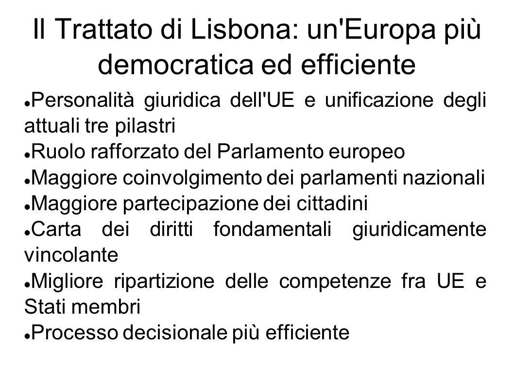 Il Trattato di Lisbona: un Europa più democratica ed efficiente