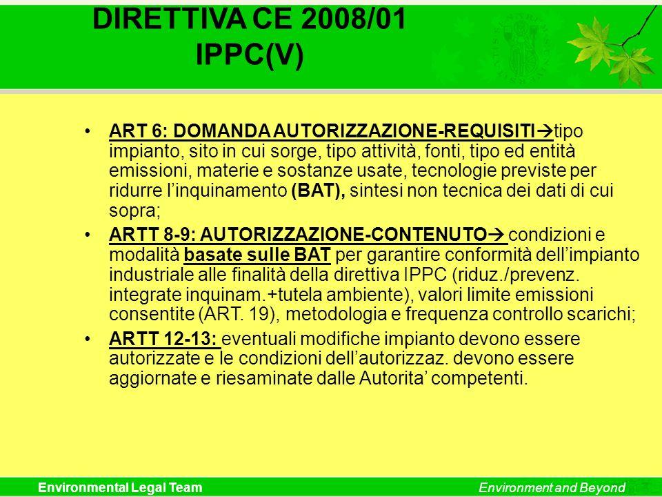 DIRETTIVA CE 2008/01 IPPC(V)