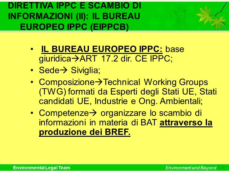 DIRETTIVA IPPC E SCAMBIO DI INFORMAZIONI (II): IL BUREAU EUROPEO IPPC (EIPPCB)