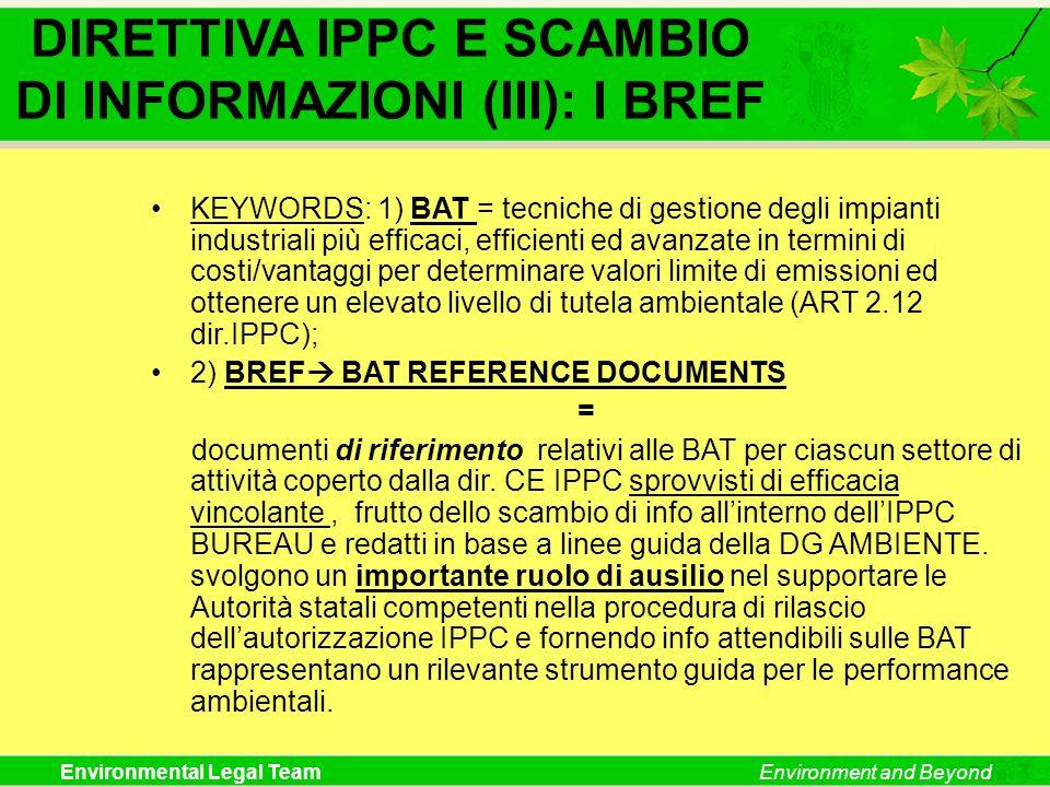 DIRETTIVA IPPC E SCAMBIO DI INFORMAZIONI (III): I BREF