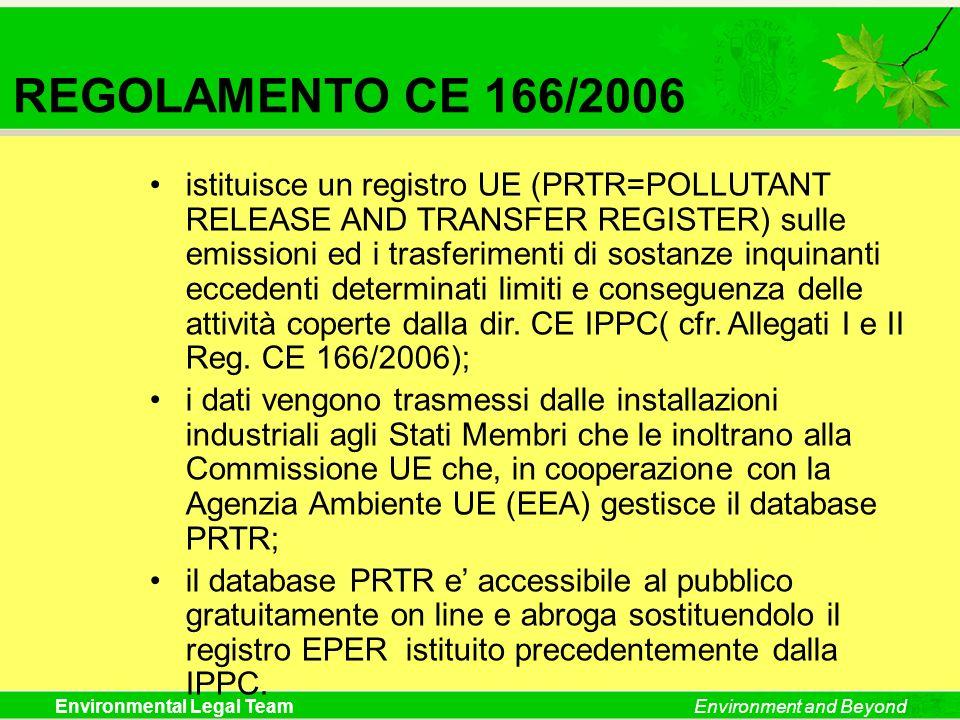 REGOLAMENTO CE 166/2006