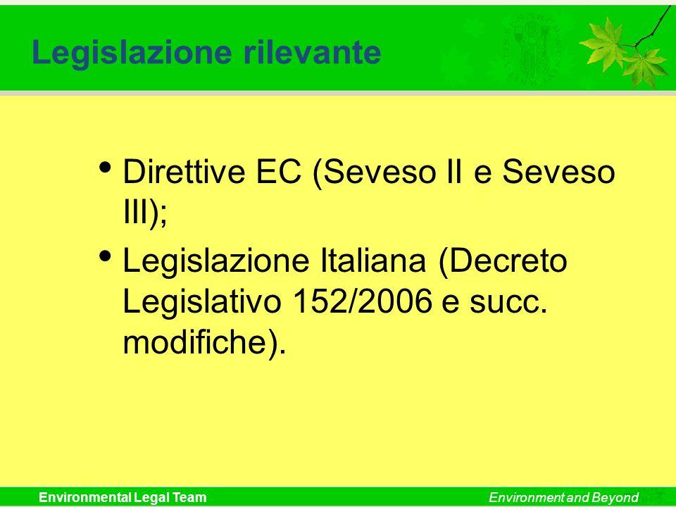 Legislazione rilevante