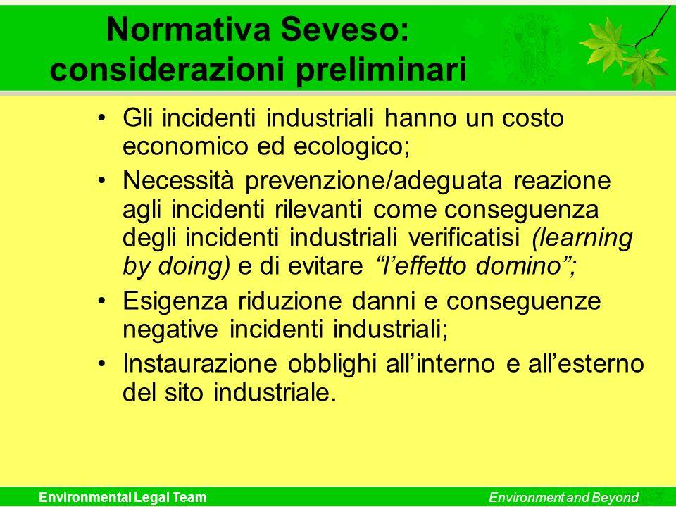 Normativa Seveso: considerazioni preliminari
