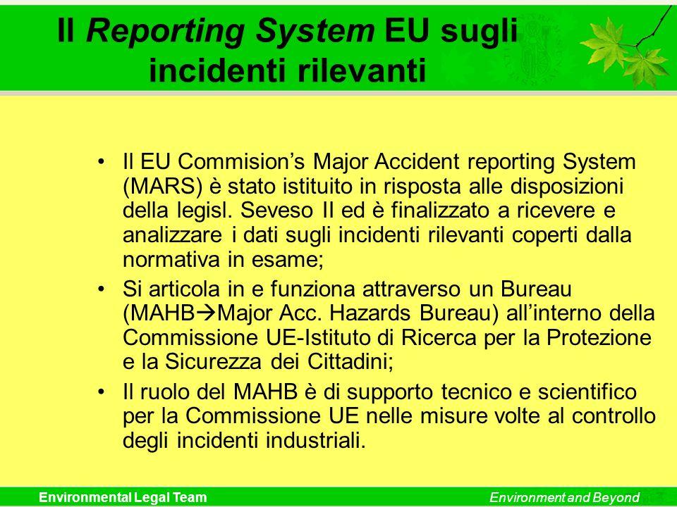 Il Reporting System EU sugli incidenti rilevanti