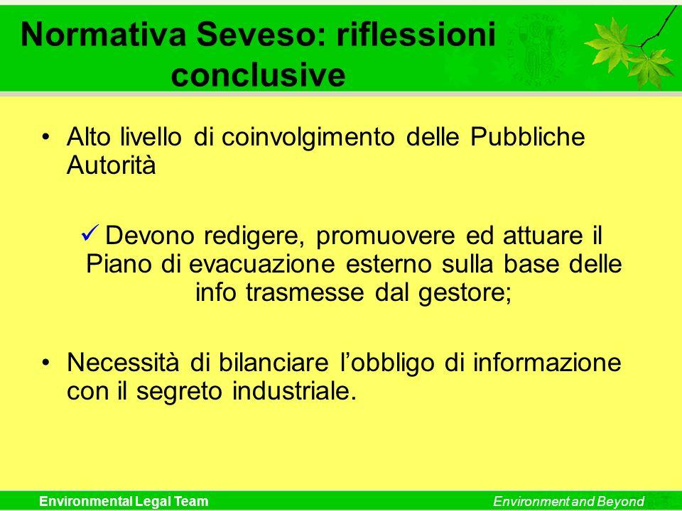 Normativa Seveso: riflessioni conclusive