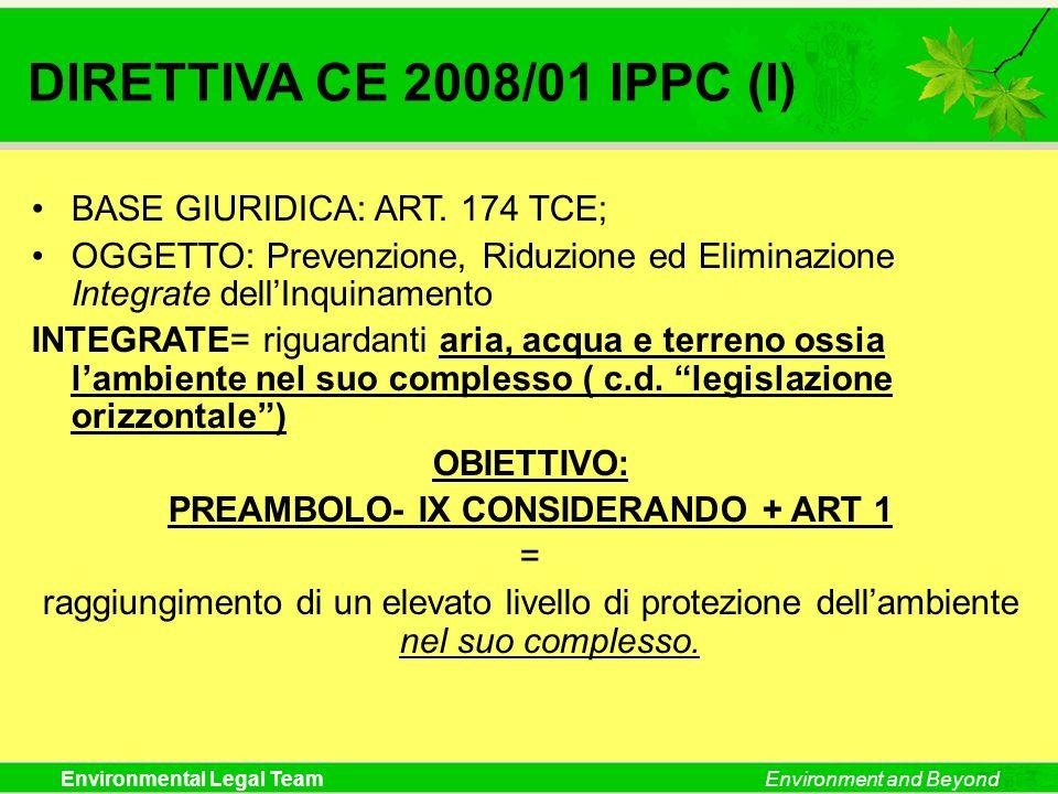 PREAMBOLO- IX CONSIDERANDO + ART 1