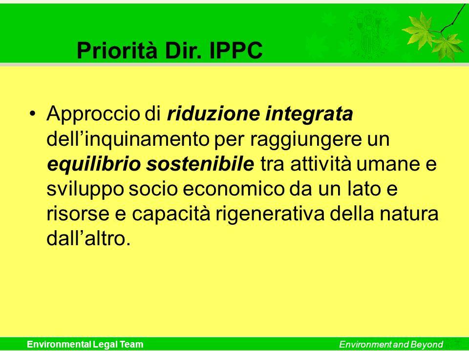 Priorità Dir. IPPC