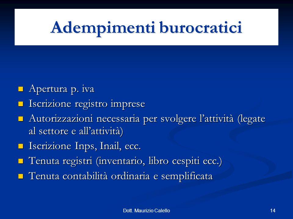 Adempimenti burocratici